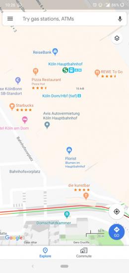Google Maps sterbeoordeling