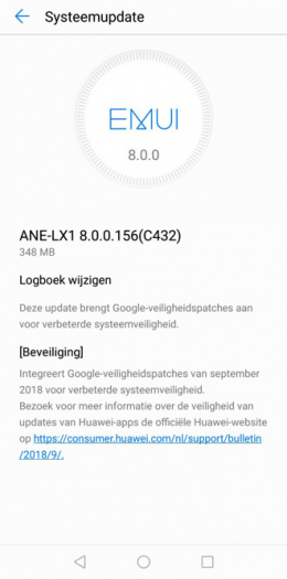 Huawei P20 Lite update september