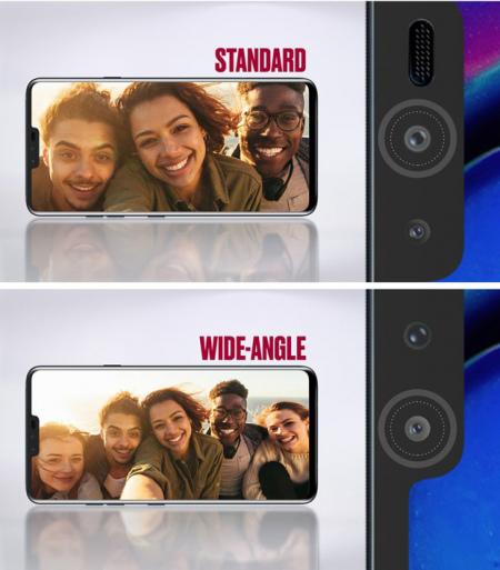 LG V40 selfie camera