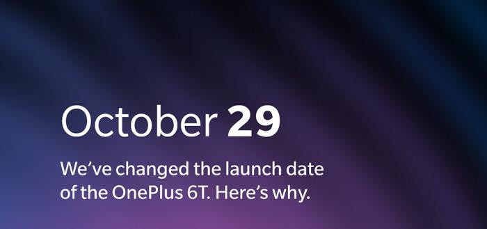 OnePlus verplaatst aankondiging OnePlus 6T naar 29 oktober door Apple