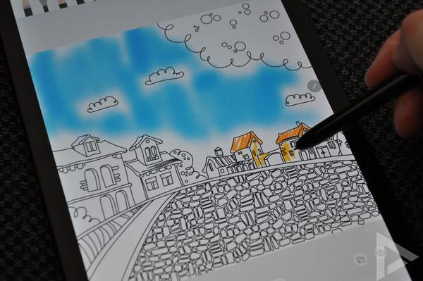 Samsung Galaxy Tab S4 S Pen tekening