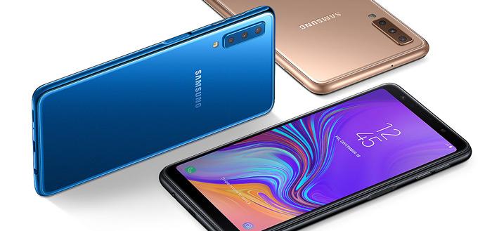 Samsung Galaxy A7 (2018) te koop in Nederland: drie camera's, scherpe prijs