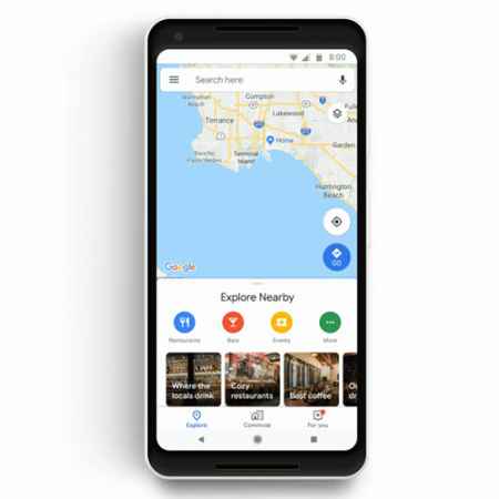 google maps forenzen tabblad