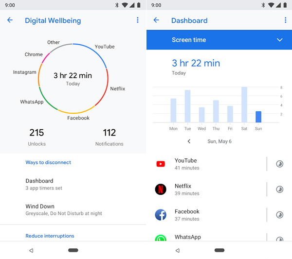Digital Wellbeing app