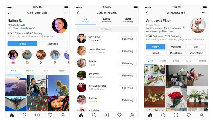 Instagram profielpagina