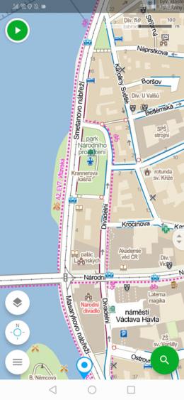 Mapy.cz app