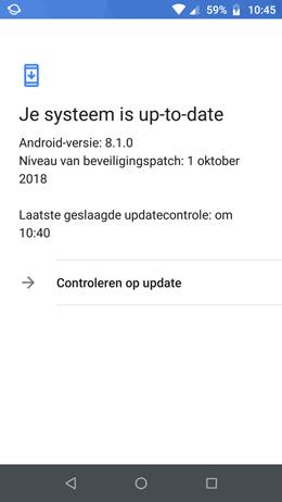 Moto G5 Plus beveiligingsupdate oktober 2018