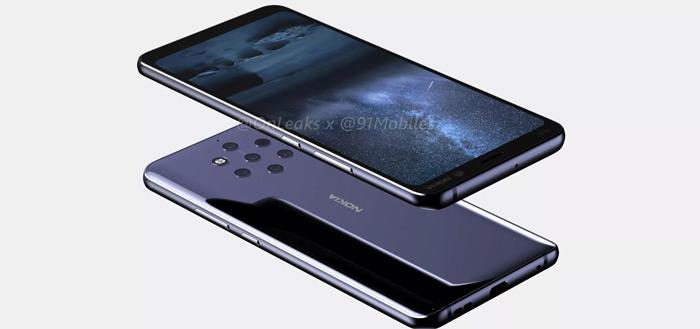 Nieuwe renders: Nokia 9 met penta-camera in beeld