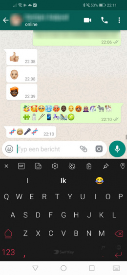 WhatsApp blokkade