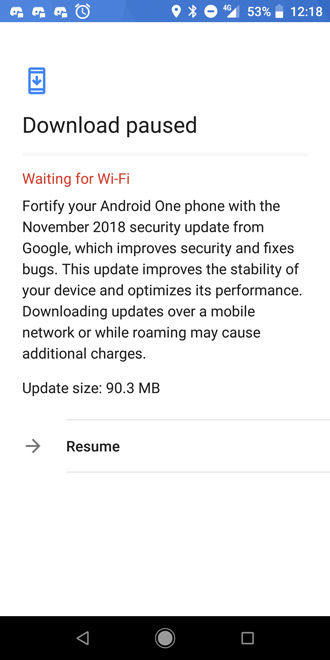 Xiaomi Mi A2 beveiligingsupdate november 2018