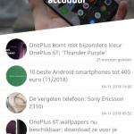 DroidApp app 3.0 startscherm