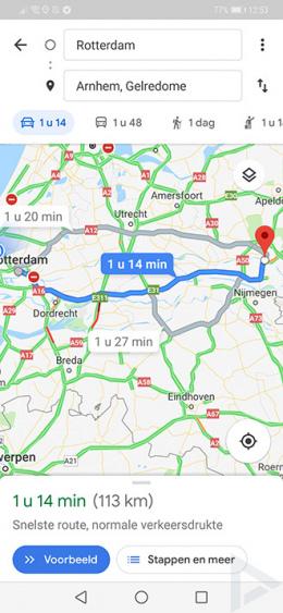 Google Maps navigatie design