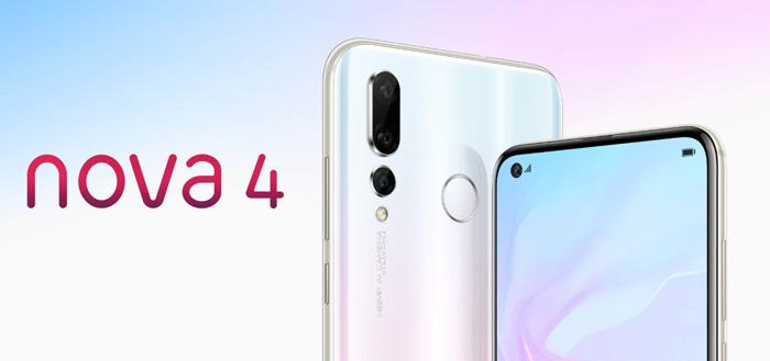 Huawei Nova 4 aangekondigd: opvallende smartphone met gat in scherm