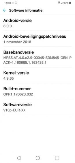 LG G7 V10p bootloop update