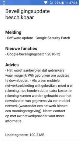 Nokia 6 beveiligingsupdate december 2018