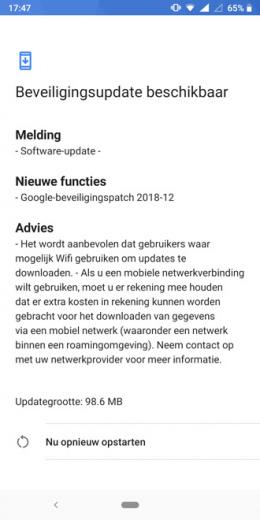 Nokia 7 Plus beveiligingsupdate december 2018