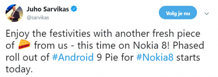 Nokia 8 Android Pie