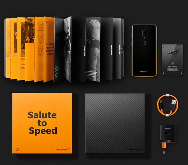 OnePlus 6T McLaren Edition verkooppakket