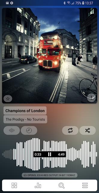 Mediaspeler Poweramp v3 na 3 jaar ontwikkelen uitgebracht in Play Store