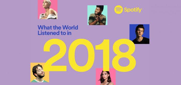 Spotify jaaroverzicht: dit was de populairste muziek van 2018