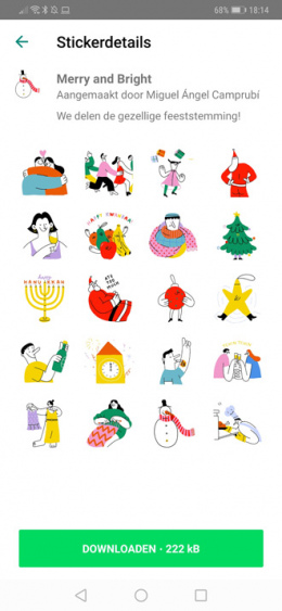 WhatsApp Merry and Bright stickers