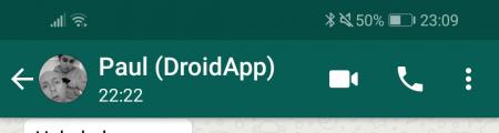 WhatsApp tijdweergave