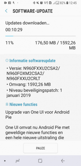 Android Pie Note 9