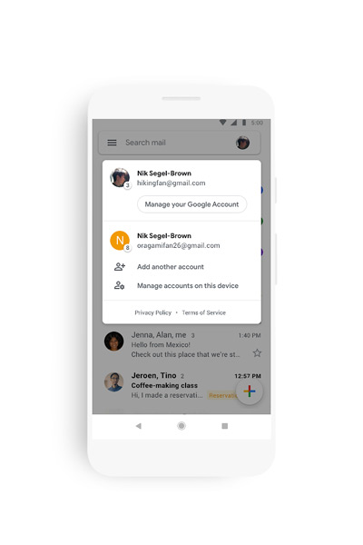 Gmail material theme