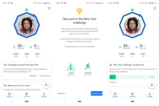 Google Fit challenges