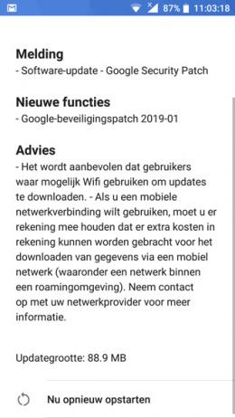Nokia 6 beveiligingsupdate januari 2019