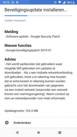 Nokia 6.1 beveiligingsupdate januari 2019