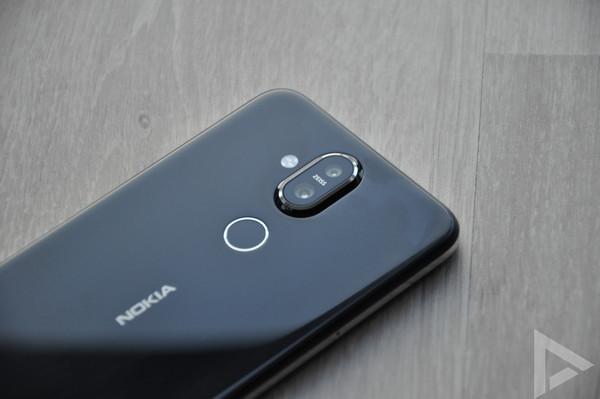 Nokia 8.1 vingerafdrukscanner