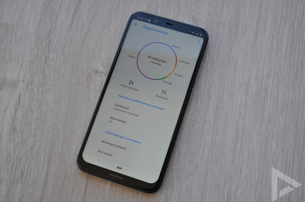 Nokia 8.1 digital wellbeing