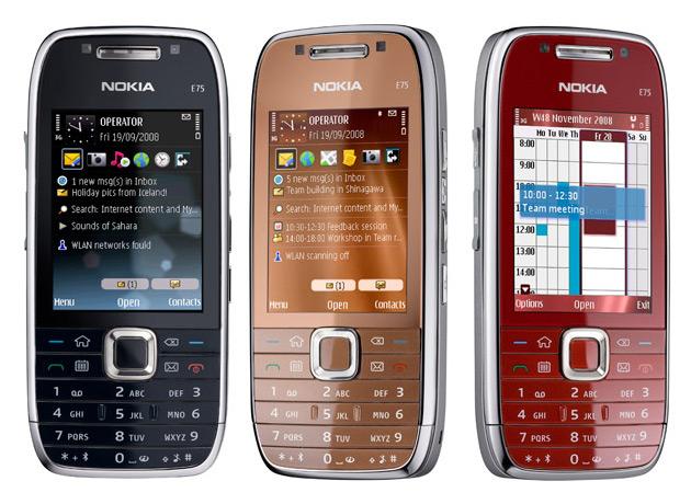 Nokia E75 kleuren
