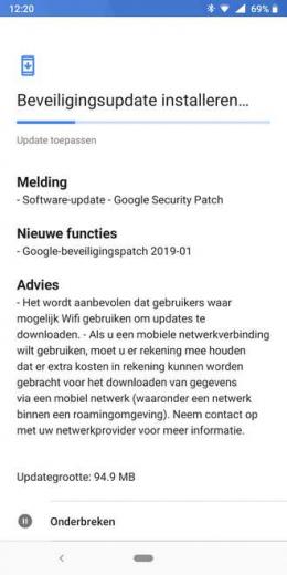 Nokia 7 Plus beveiligingsupdate januari