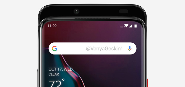 OnePlus 7 renders tonen uitschuifbare camera-slider