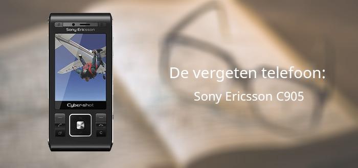 De vergeten telefoon: Sony Ericsson C905