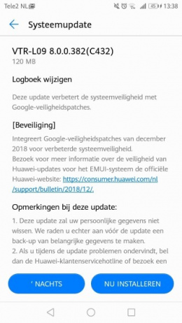 Huawei P10 patch december