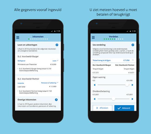 Aangifte 2018 app belastingdienst