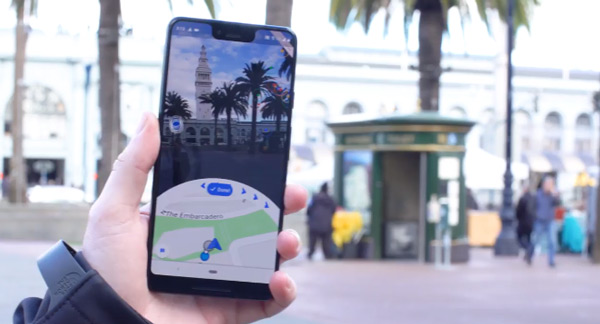 Google Maps Augmented Reality navigatie