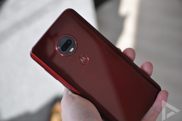 Moto G7 Plus rood