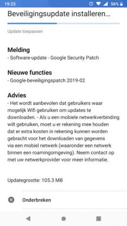 Nokia 6.1 beveiligingsupdate februari 2019
