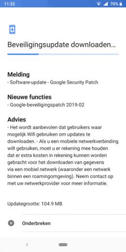 Nokia 7 Plus beveiligingsupdate februari 2019