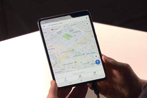 Samsung Galaxy Fold scherm groot