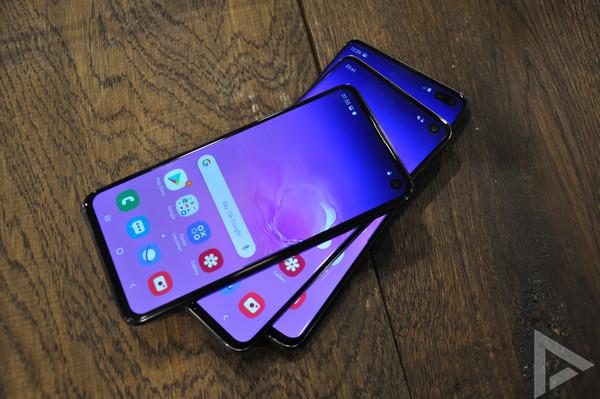 Samsung Galaxy S10 design scherm