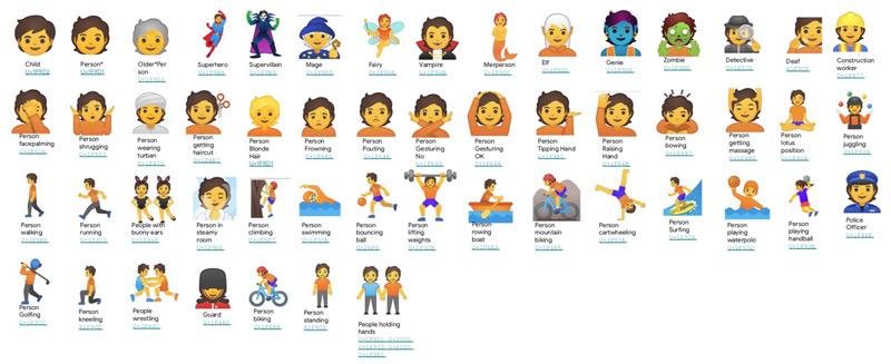 Emoji gender 2019