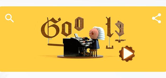 Google Doodle laat je zelf een stuk componeren in de stijl van Bach