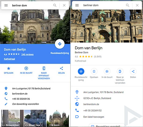 Google Maps Web material theme
