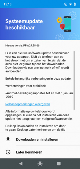 Moto G7 Plus januari update