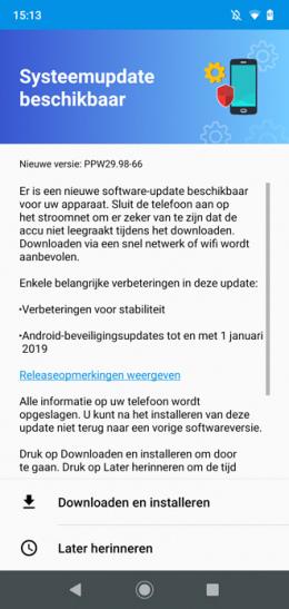 Moto G7 Plus januari update